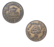 Old coins Lebanon Royalty Free Stock Image