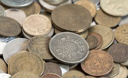 Old coins pile Royalty Free Stock Images