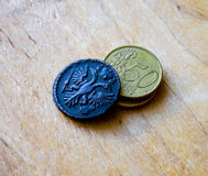 Old coins of Russia 1731 Royalty Free Stock Photography