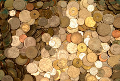 Old coins. Selection of indian old vintage coins Stock Photo