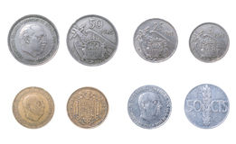 The Old coins Spain Royalty Free Stock Photography