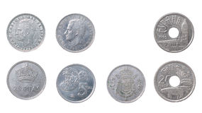 The Old coins Spain Stock Photos