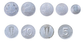 Old coins to east Germany,GDR Stock Photo