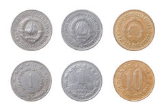 Old coins to Yugoslavia Stock Image