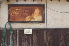 Old Coke sign Royalty Free Stock Image