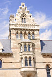 Old college building in oxford city, uk, Royalty Free Stock Image