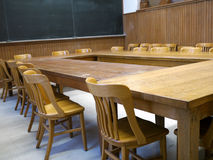 Old college classroom Royalty Free Stock Photos