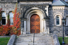 Old college entrance Royalty Free Stock Photo