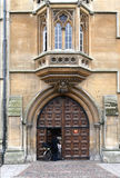 Old college entrance at Oxford Royalty Free Stock Photos