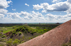 Old collieries of Gorlovka. View on the old collieries of Gorlovka in Ukraine royalty free stock photos
