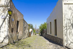 Old colonial alley, Uruguay Stock Photography