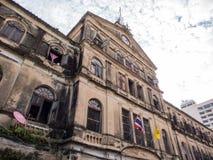 Old colonial art building in Bangkok Royalty Free Stock Photos
