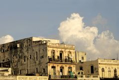 Old Colonial Building. Old and Deteriorated Colonial Building royalty free stock images
