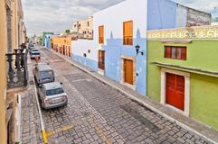 Old colonial buildings in Campeche, Mexico Royalty Free Stock Photo