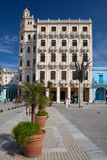 Old colonial buildings on Plaza Vieja square, Havana, Cuba Royalty Free Stock Image