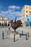 Old colonial buildings on Plaza Vieja square, Havana, Cuba Royalty Free Stock Images