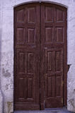 old Colonial carved door Stock Image