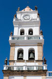 Old colonial church in Sucre, Bolivia. royalty free stock photography