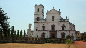 Old colonial church. Church in 17th century colonial baroque style stock video footage