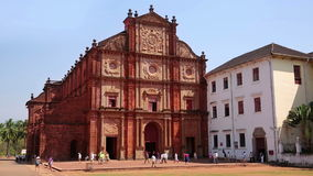 Old colonial church. Church in 17th century colonial baroque style stock video