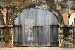 Old colonial doors Stock Photos