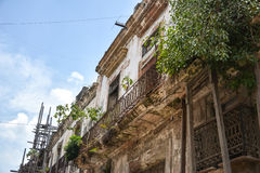 Old colonial house. Very old house in old havana, Cuba stock photography