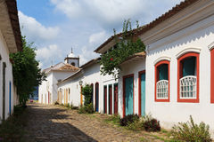 Old  colonial houses in Paraty, Brazil Stock Photo
