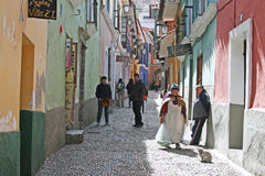 Calle jaen. The old colonial street calle jaen at la paz in bolivia stock photography