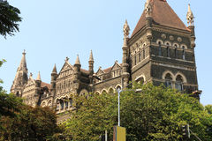 Old colonial style building in mumbai india Royalty Free Stock Photos