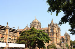 Old colonial style building in mumbai india Royalty Free Stock Images