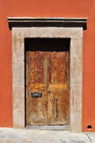 Old Colonial style door in Mexico Stock Images