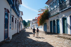 Old colonial town of Paraty, Rio de Janeiro, Brazil.  royalty free stock images