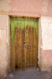 Old colonial wooden door in Potosi State, Bolivia. Royalty Free Stock Photography