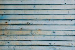 Old blue wooden wall royalty free stock images