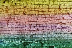 Old color cracked plaster Royalty Free Stock Photos