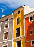 Old color houses facades Royalty Free Stock Images