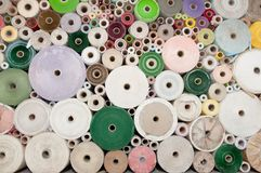Old color paper roll wall Stock Image