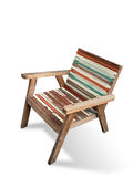 Old color wood arm chair Stock Image