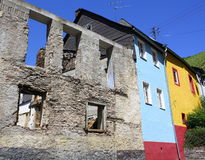 Old and colored façades Stock Images