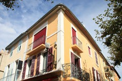 Old colored house  of  Cassis Royalty Free Stock Photos
