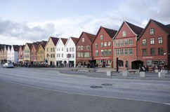 Old colored houses from Bergen, Norway Stock Photography