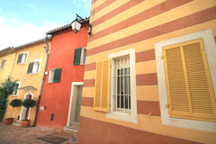 Old colored houses of  Cassis Stock Image