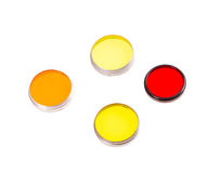 Old colored light photofilters. Stock Photography