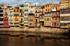 Old colored ramshackle houses Stock Image