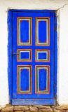Old colored wooden door front view Royalty Free Stock Photography