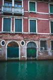 Apartments on a canal, Venice, Italy Royalty Free Stock Images