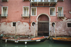 Apartments on a canal, Venice, Italy Royalty Free Stock Image