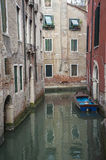 Apartments on a canal, Venice, Italy Royalty Free Stock Photography