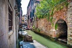 Apartments on a canal, Venice, Italy Stock Photos