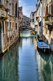 Apartments on a canal, Venice, Italy Stock Image